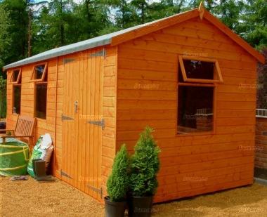 Side Door Apex Shiplap Shed 563 Double Door Workshop