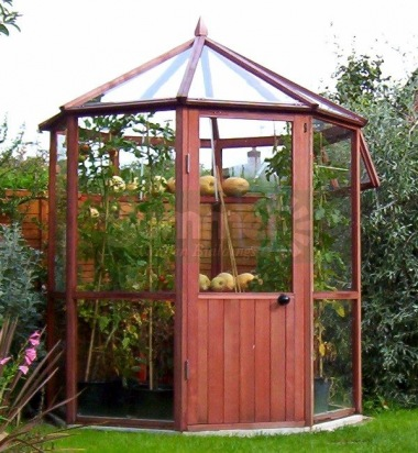cedar octagonal greenhouse 851 toughened glass