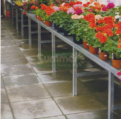 GREENHOUSES xx - Heavy duty aluminium 1 tier staging