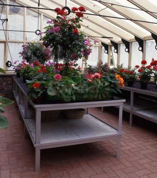GREENHOUSES xx - Heavy duty aluminium 2 tier staging