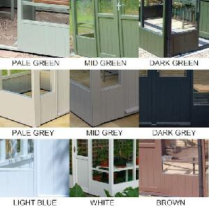 GREENHOUSES - Paint finish - Full colour chart