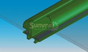Green PVC bar capping