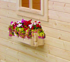 LOG CABINS xx - Window boxes, with interlocking logs