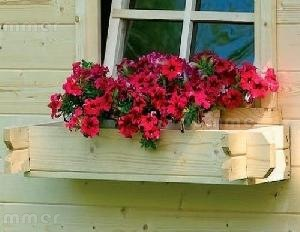 Window boxes - interlocking log construction