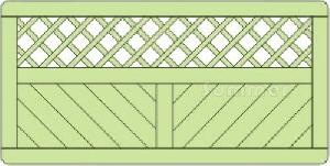 FENCING - Elevation drawing 6x3