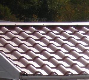 CONCRETE GARAGES, TIMBER GARAGES, STEEL GARAGES, CARPORTS xx - Tile-effect steel roof sheets
