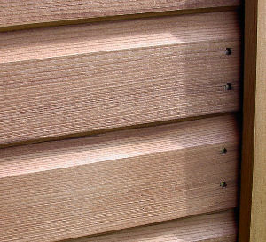 SUMMERHOUSES xx - Close up view of cladding