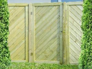 FENCING xx - Single and double gates, pressure treated timber