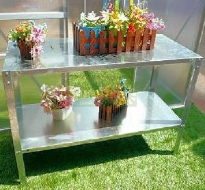 GREENHOUSES - Heavy duty steel 2 tier staging
