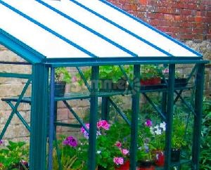 GREENHOUSES - Aluminium high level shelving coloured finish