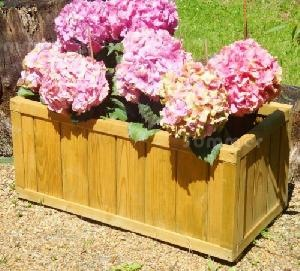 SUMMERHOUSES - Pair of wooden planters