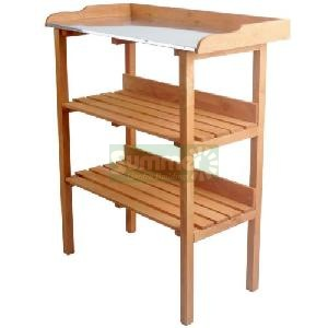 GREENHOUSES - Wooden potting tables