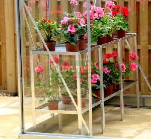 GREENHOUSES - Staging 2 tier aluminium trays