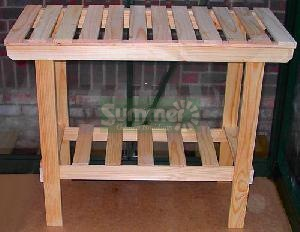 CLEARANCE AND EX-DISPLAY - Heavy duty wooden 2 tier staging