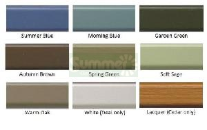 SUMMERHOUSES xx - Paint finish - Full colour chart