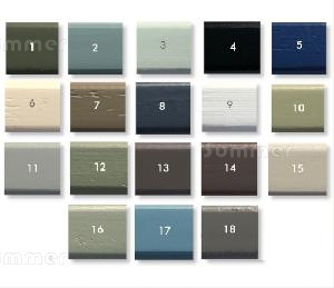 SHEDS - Paint finish - Full colour chart