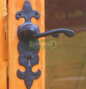 SUMMERHOUSES xx - Black antique ironmongery