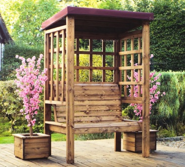 2 Seater Arbour 471 - Burgundy Showerproof Canopy