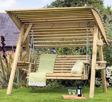 2 Seater Swing Seat 968 - Pressure Treated, Slatted Design