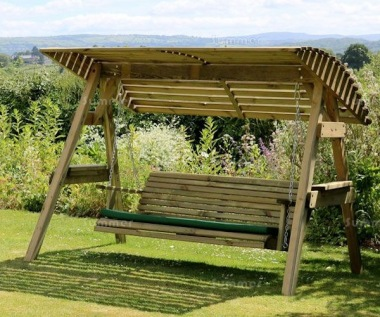 3 Seater Swing Seat 970 - Pressure Treated, Slatted Design