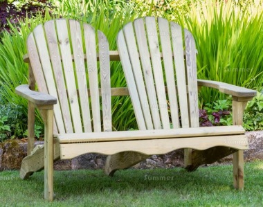 2 Seater Bench 812 - Adirondack Style, Pressure Treated