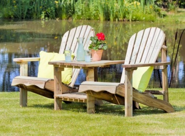 Adirondack Love Seat 832 - 2 Square Trays, Pressure Treated
