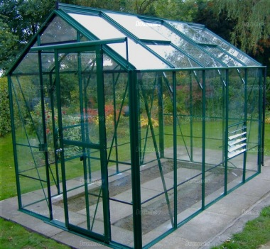 Aluminium Greenhouse 190 - Toughened Glass