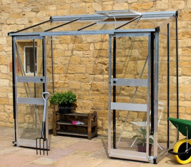 Aluminium Lean To Greenhouse 262 - Zero Threshold Doorway