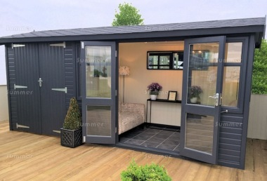Side Door Apex Summerhouse 538 - Two Rooms, Double Glazed