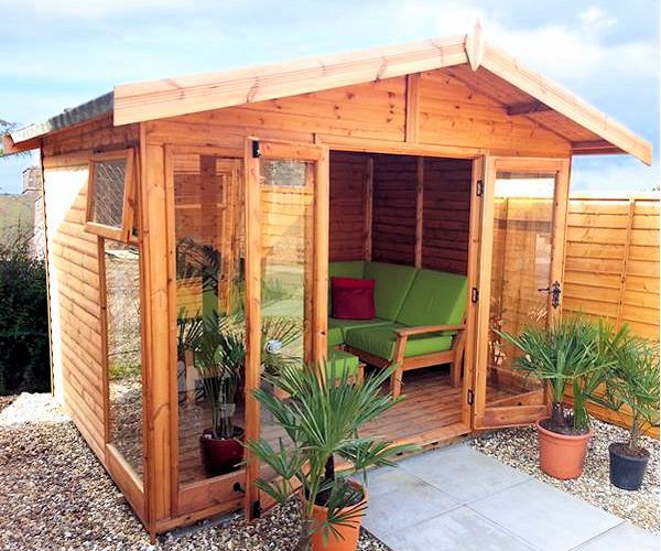 Apex Summerhouse 693 - Large Panes, Double Door