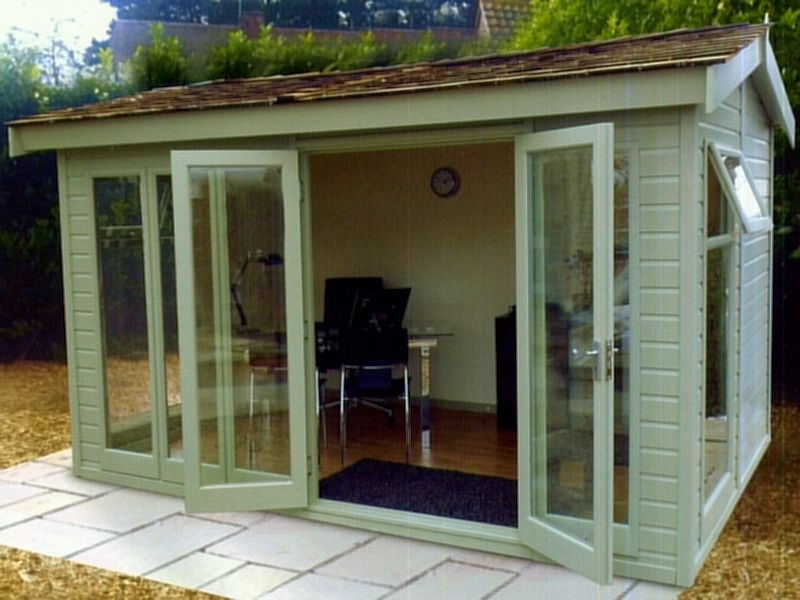 Side Door Apex Summerhouse 53 - Double Glazed