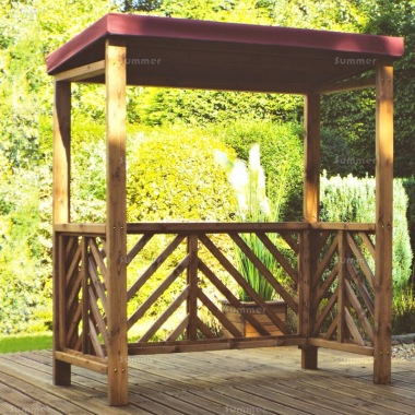 Barbecue Shelter 457 - Burgundy Canopy