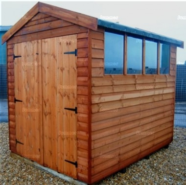Overlap Double Door Apex Shed 074