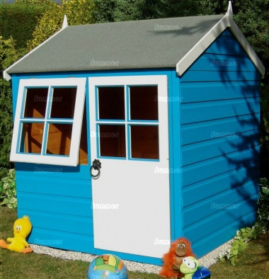 Childrens Playhouse 80 - Shiplap, Half Glazed Door