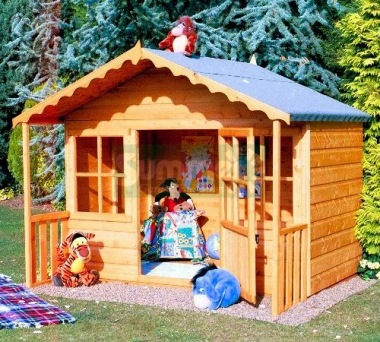 Childrens Playhouse 83 - Shiplap, Half Glazed Door