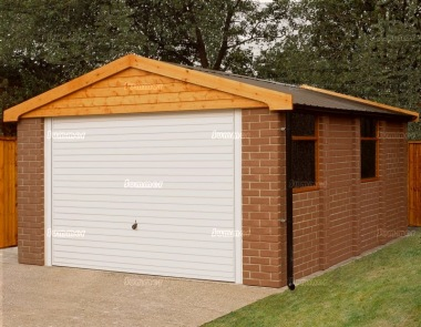 Brick Apex Concrete Garage 172