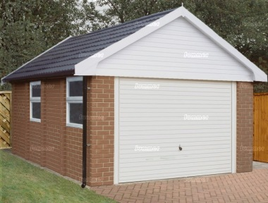 Concrete garage 184 for Single garage cost