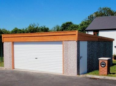 Spar Pent Double Concrete Garage 216