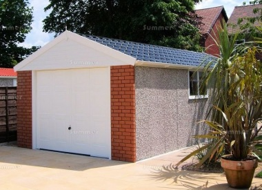 Spar Apex Concrete Garage 510 - Brick Posts, PVCu Window and Fascias