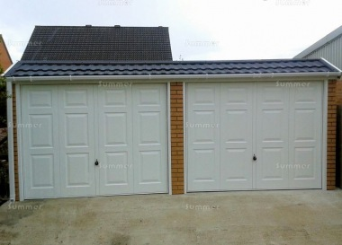Brick Double Concrete Garage 668 - Tiled Front, Personnel Door