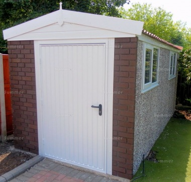 Spar Apex Concrete Shed 675 - Brick Posts, PVCu Window and Fascias