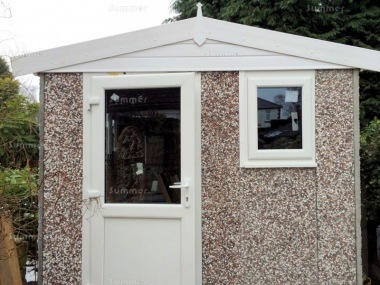 Spar Apex Concrete Shed 693 - PVCu Window, Fascias and Door