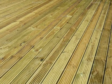 Pressure Treated Decking Kit 296 - Reversible, Grooved Finish