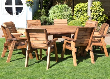 8 Seater Dining Set 512 - Armchairs, Round Table