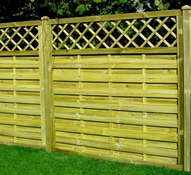 Fence Panel 434 - Planed Timber, 9mm Reeded Boards, 3x2 Frame