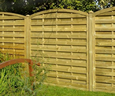 Fence Panel 445 - Planed Timber, 9mm Reeded Boards, 3x2 Frame