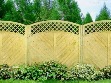 Fence Panel 517 - Planed Timber, 15mm T and G Boards, 3x2 Frame
