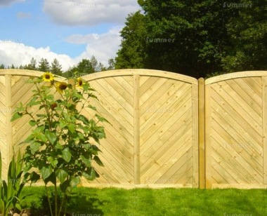 Fence Panel 519 - Planed Timber, 15mm T and G Boards, 3x2 Frame