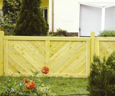 Fence Panel 522 - Planed Timber, 18mm T and G Boards, 4x2 Frame