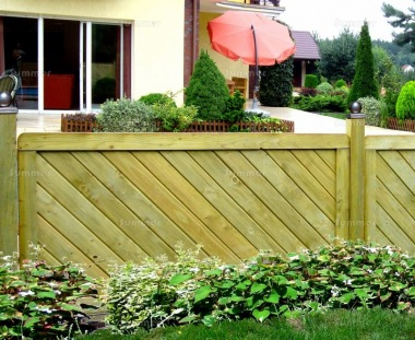Fence Panel 532 - Planed Timber, 18mm T and G Boards, 4x2 Frame